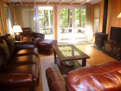 Falling Leaf Vacation Rental, Livingroom with Gas Fireplace
