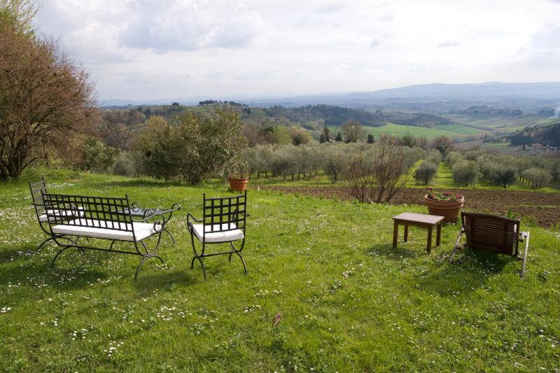 Luxury Farmhouse in the Chianti Wine Region - Casa dei Frati with Cottage, vacation rental in San Casciano in Val di Pesa