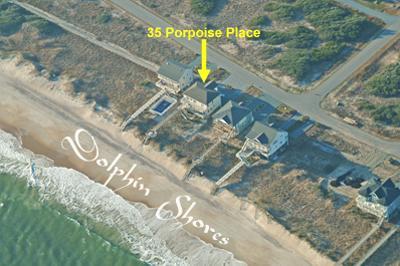 Vista aérea muestra la ubicación del hogar
