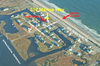Aerial view showing location