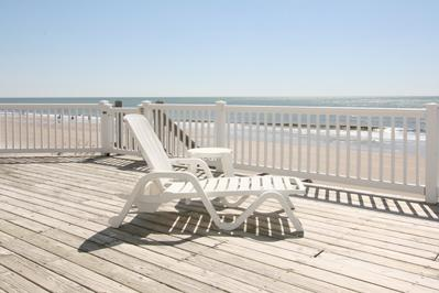 Part of large sun deck just off living area