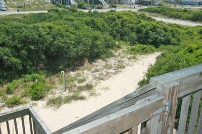 Path to beach access and bathhouse