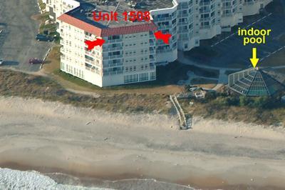Oceaan zijaanzicht van eenheid 1508 St. Regis Resort