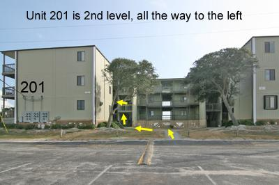 Location of unit 201 in Building 1, Topsail Reef