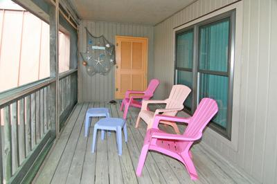 Screened porch and entry door
