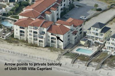 View of ocean side of Unit 318B Villa Capriani