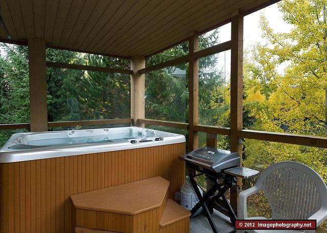 """The Private hot tub was an incredible luxury, excellent value!"""