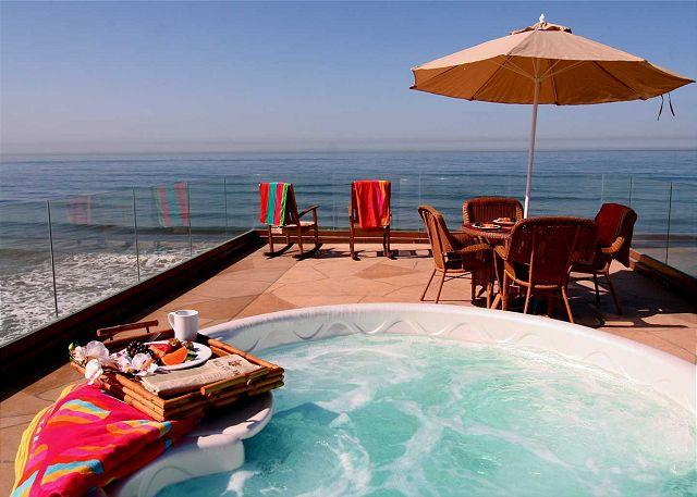 Rooftop deck with spa, Beachfront Only Vacation Rentals