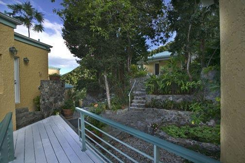 Walkway to Coral Cottage
