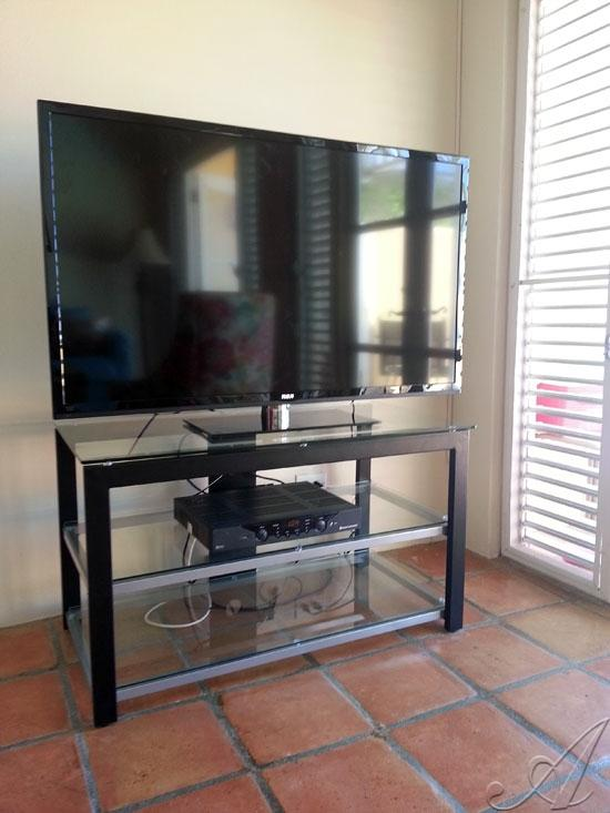 50' flat screen TV for your nights at home