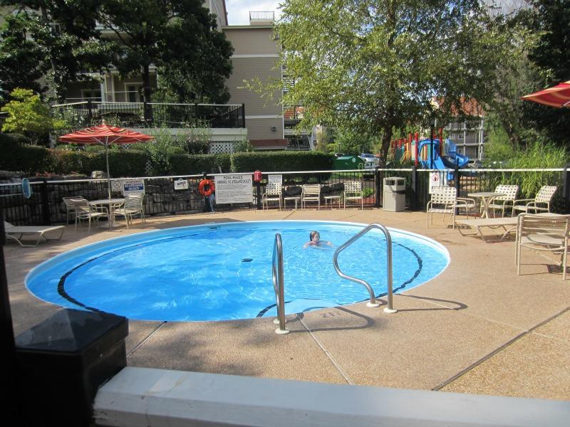 Bring your rubber ducky for toddler fun in the wading pool