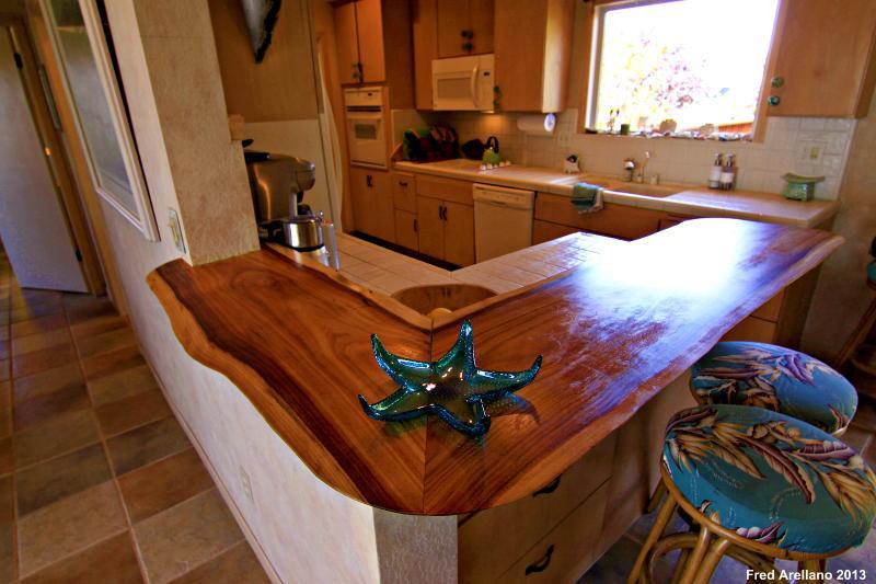 cozinha - contadores de madeira de forma livre aberta