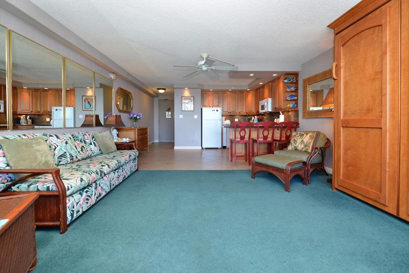 VIR606 interior w/Queen wall bed