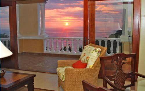 Beautiful sunset views from the terrace