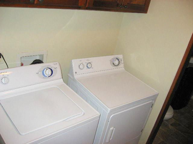 Washer and Dryer in the 2-bedroom and 3-bedroom condominiums
