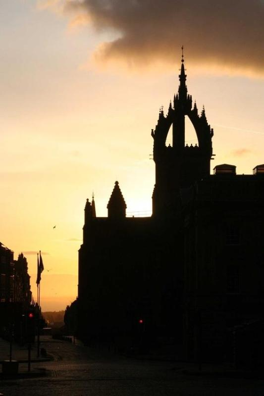 St Giles cathedral from the Royal mile