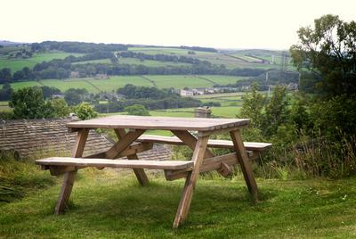 View from our garden field. Picnic area with open countryside views