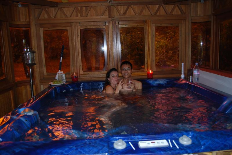 Guest in Hot Tub Spa/Seats 6 guest