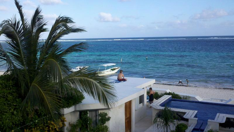 Our view of the Beach and the Caribbean