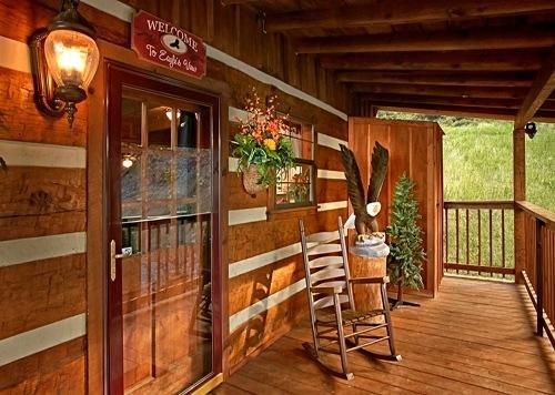Cubierta, porche, silla, muebles, barandilla