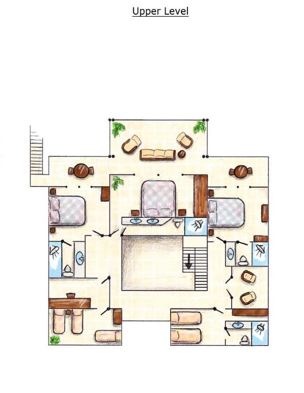 Plan de piso superior