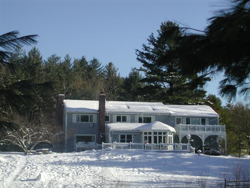 View of the house from sledding hill