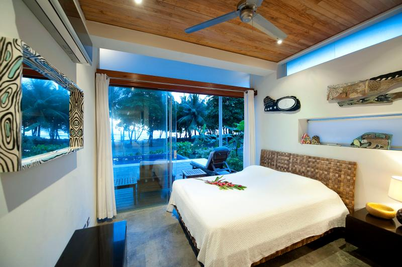Bedroom with Queen Bed and view
