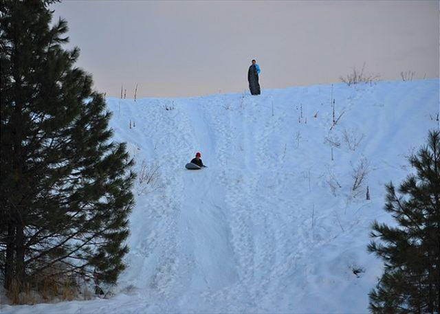 Sledding hill about 100 yards from the cabin!