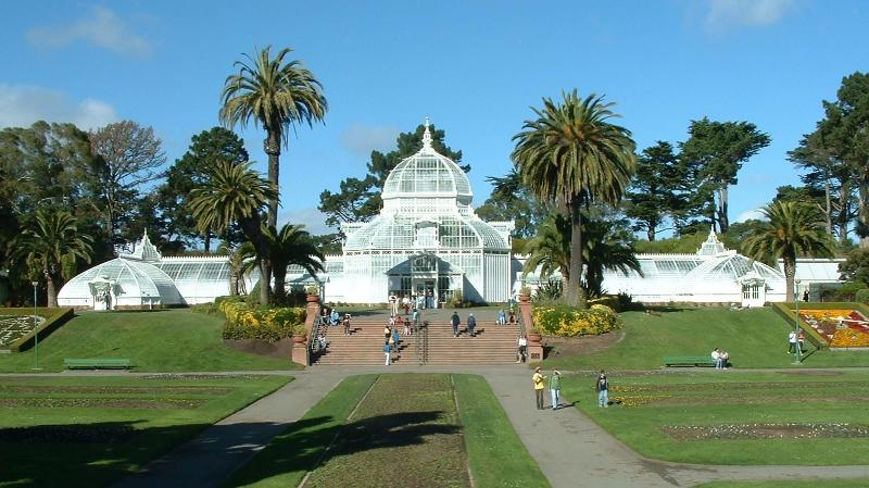 Golden Gate Park Conservatory 10 minutes by bus or 30 minutes walking from YourHomeInSanFrancisco