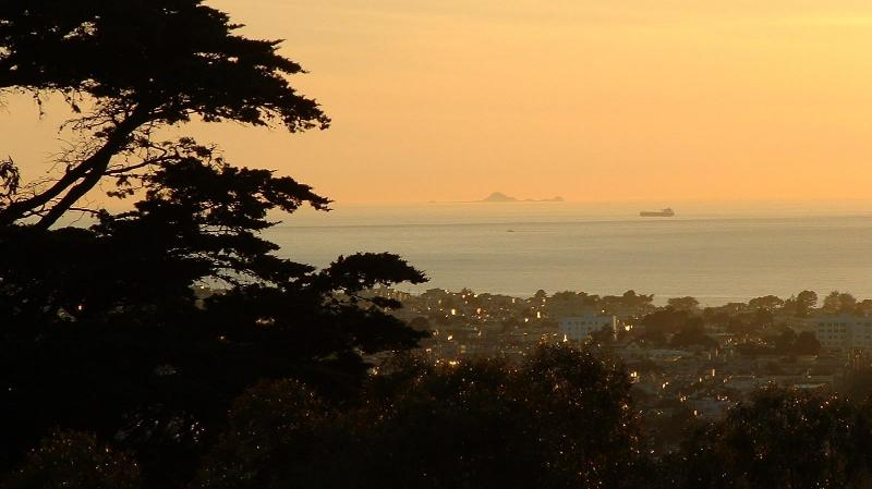 Buena Vista Park Sunset View of Farralon Islands just a 40 min. walk & Climb YourHomeInSanFrancisco