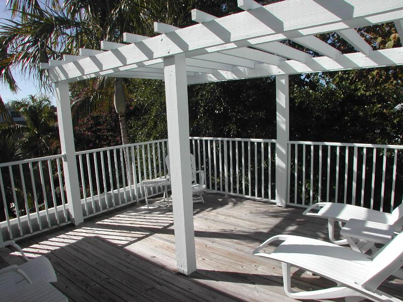Sun deck off two 2nd floor areas for best sunning