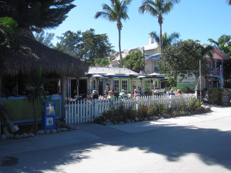 Key Lime Bistro across from the Island Store, only a 3 minute walk