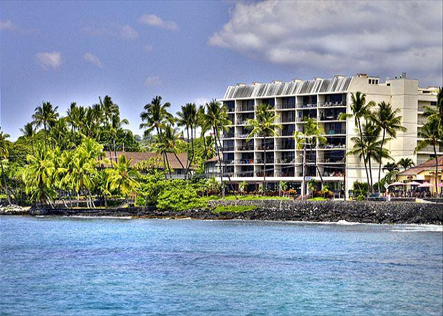 View of the Kona Alii complex from the water.