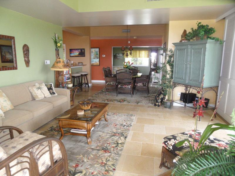 Living room - new stone flooring