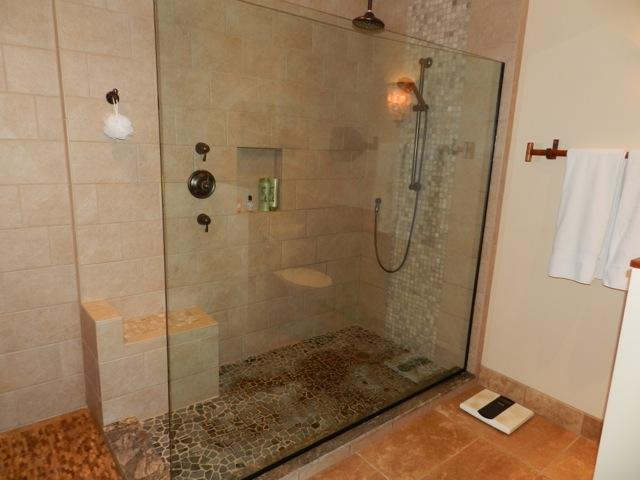 Master Bath - large walk in rain shower