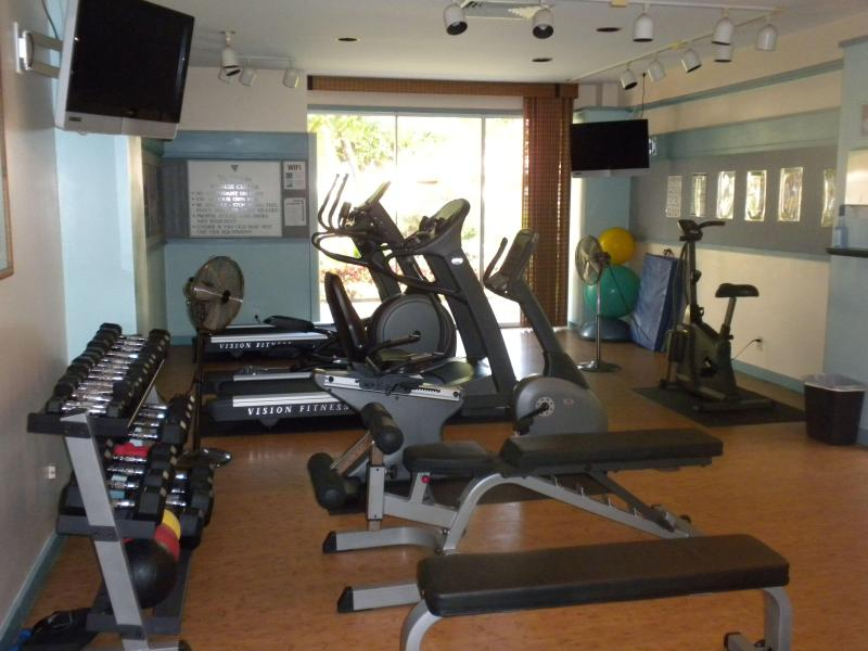 Exercise room with equipment - on site