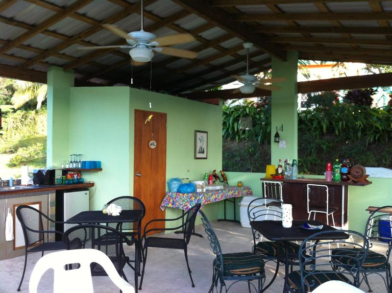 The Flamboyan terrace- great for relaxation and group parties