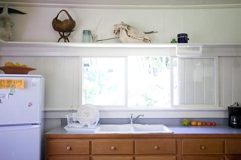 Kitchen sink area.