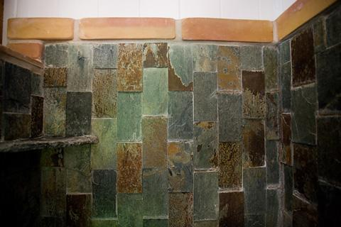 Custom Alpine slate shower.
