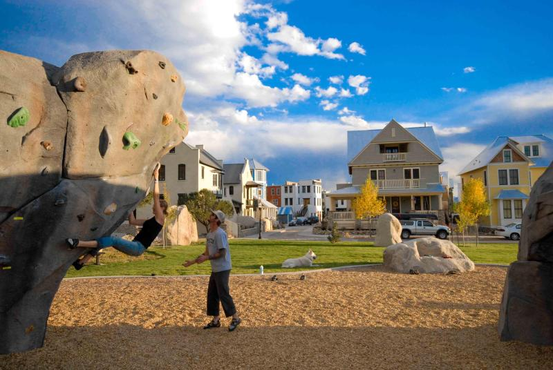 Climber's paradise too! The BV Boulder Garden's public boulders are a block away