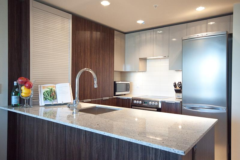 Modern Contemporary Kitchen - all stainless steel appliances and dishwasher