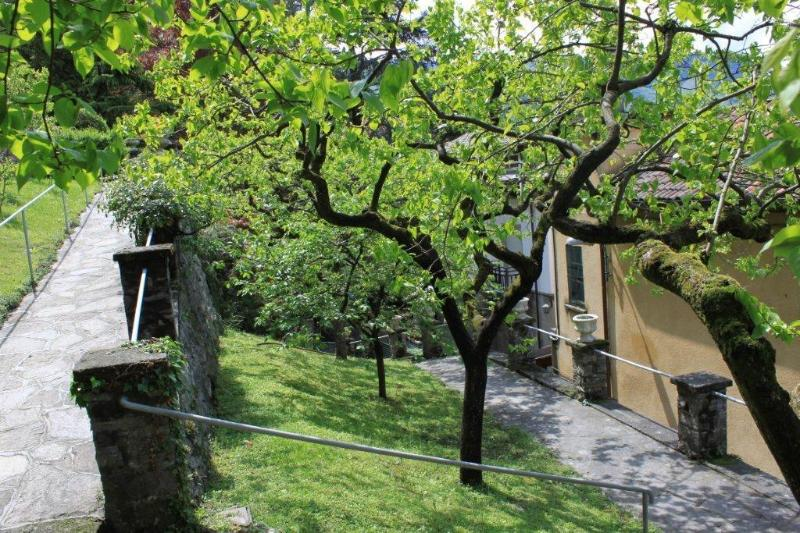 Our Private Gardens with fruit lined trees
