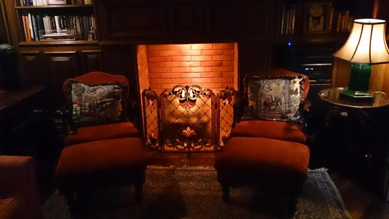 The Library - Fireplace