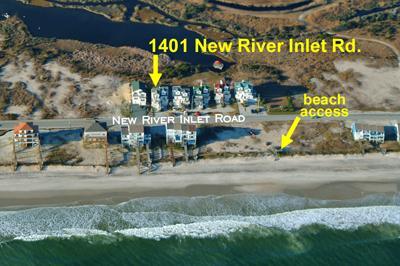 Foto aérea que muestra la ubicación de la casa