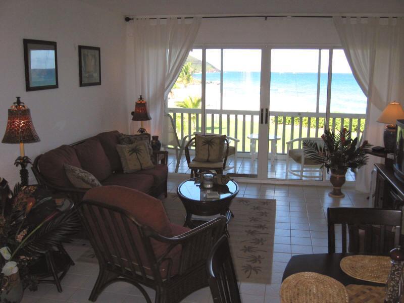 Wohnzimmer mit awesome Strand und Meer-Blick!