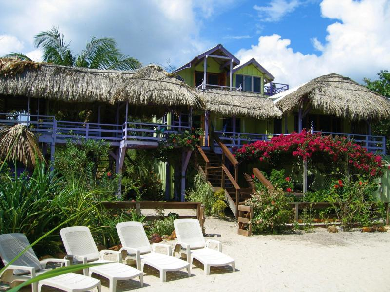 CASA BEYA is in Maya Beach: Gorgeous OCEANfront w/ DOCK!!,wifi,SUPs,bikes,kayaks, aluguéis de temporada em Stann Creek