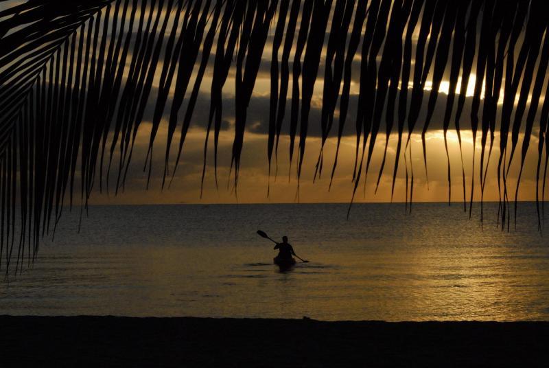 Sunrise kayaker