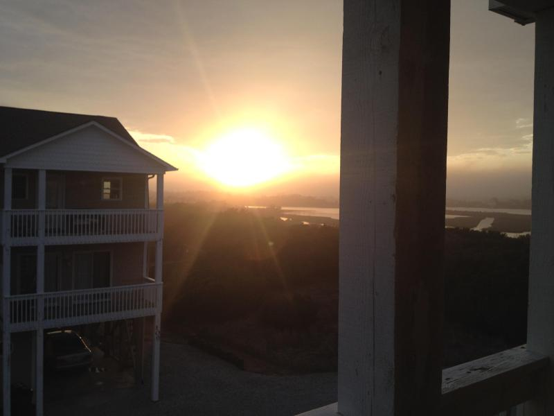 Sunset off the kitchen deck March 2014