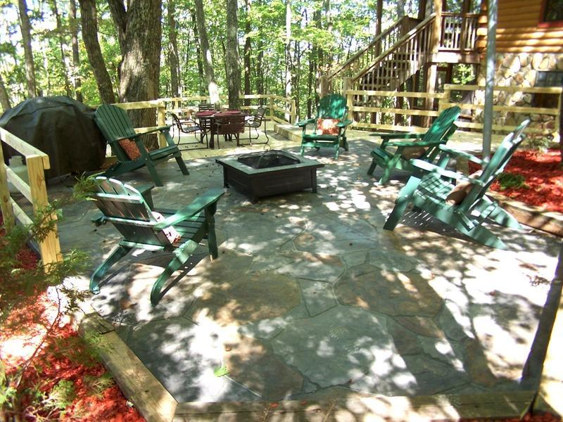Have family fun as you relax on the NEW formal fire pit area with seating!