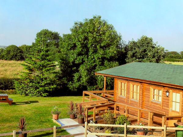 THORNLEA LOG CABIN, pet friendly, country holiday cottage, with a garden in, vacation rental in Bovey Tracey